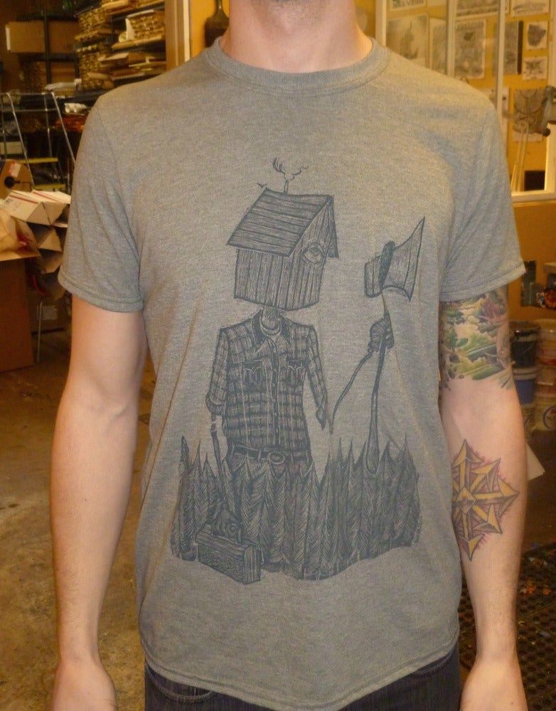 Image of Reluctant Woodsman Shirt - Heather Army Green