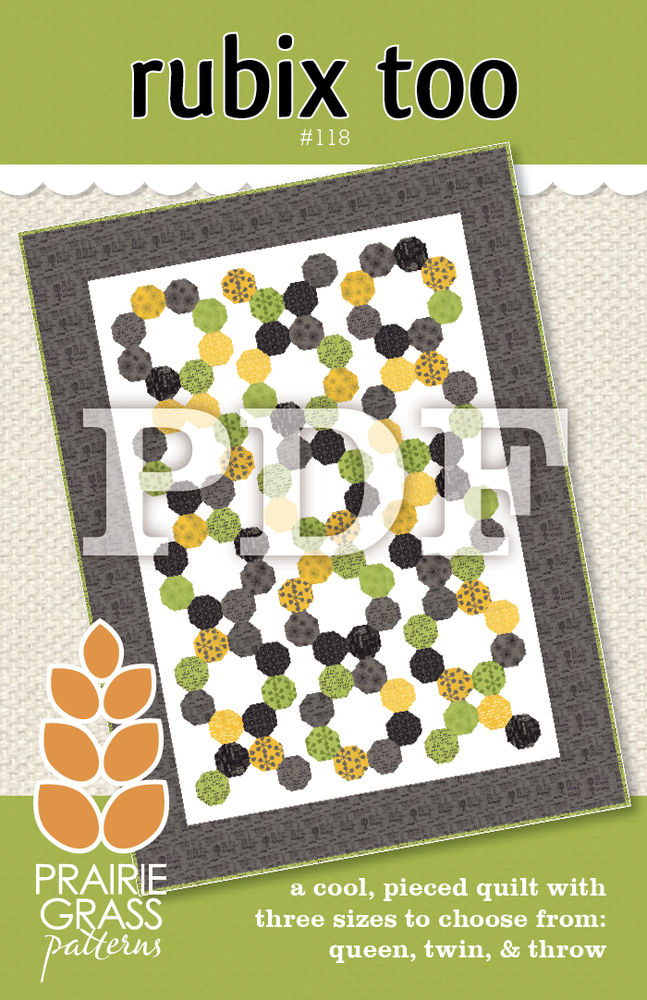 Image of Rubix Too: PDF Quilting Pattern #118
