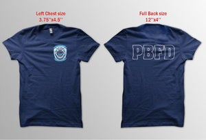 Image of PBFD Superstorm Sandy Tee Shirts