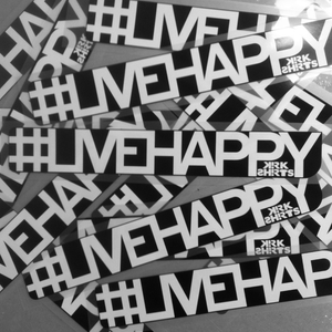 Image of #livehappy sticker