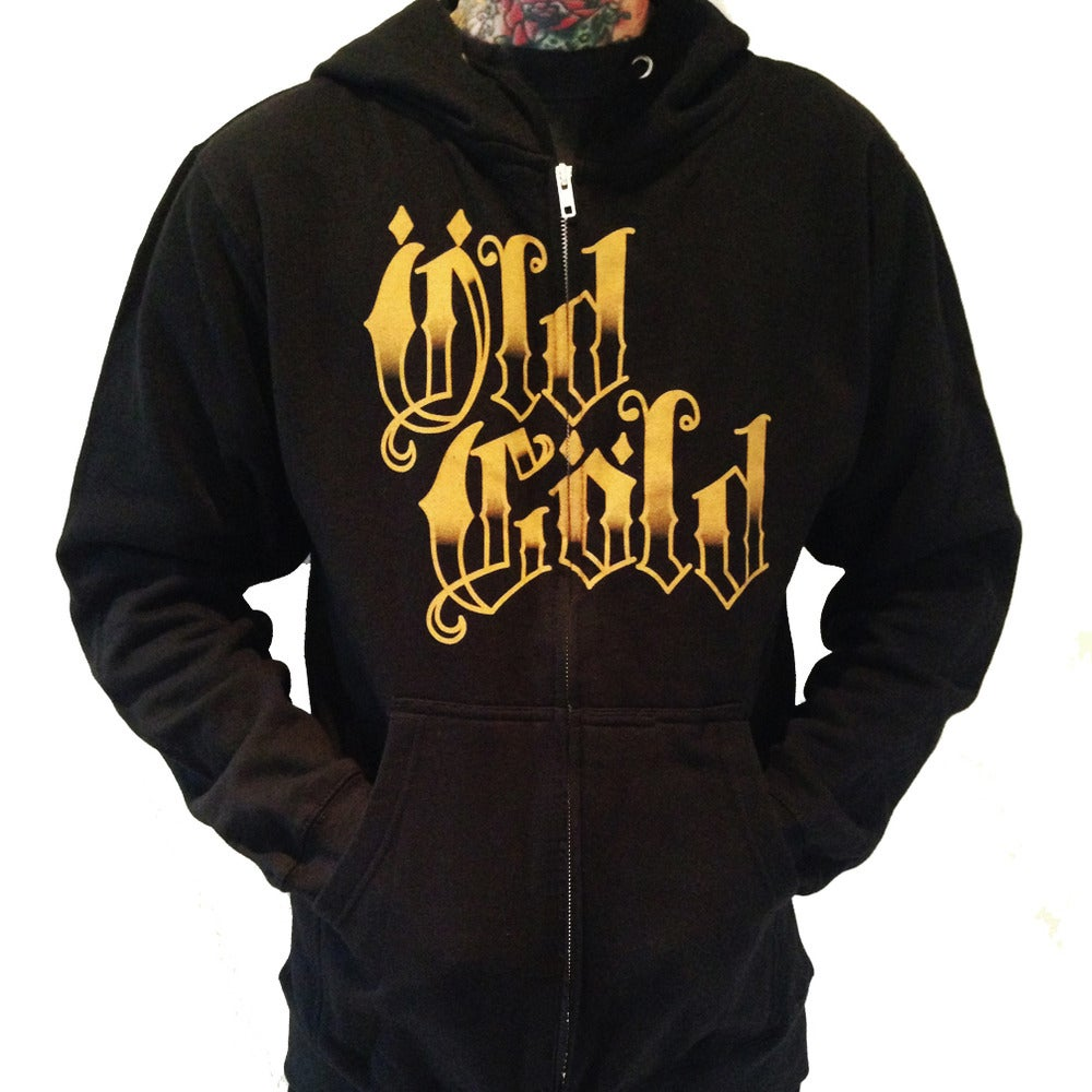 "Image of NEW! Old Gold Garage ""Uber Alles"" hoodie"