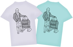 Image of C-3PO & R2-D2 in Knitwear - Star Wars T-Shirt