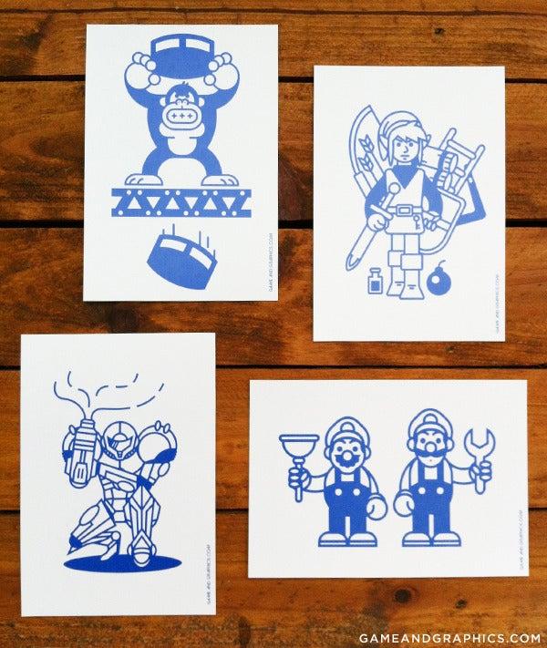 Image of Game & Graphics Printed #1: Postcards