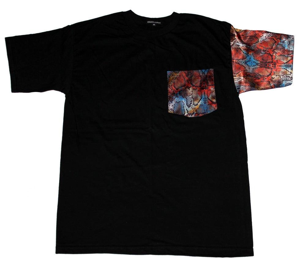 Projectink — Snake skin Pocket & Sleeve Shirt