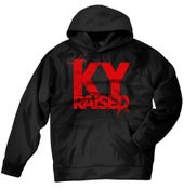 Image of KY Raised Black / Red Hooded Sweatshirt