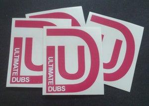 Image of Ultimate Dubs - UD Logo - Pink - Sticker