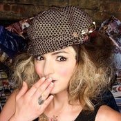 "Image of ""Sylvie"" Tweed Newsboy Cap"