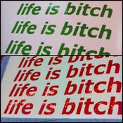 "Image of ""life is bitch"" Stickers"