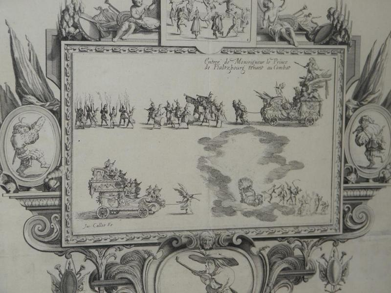 Image of Antique 17C Important Italian Engraving Print J Callot