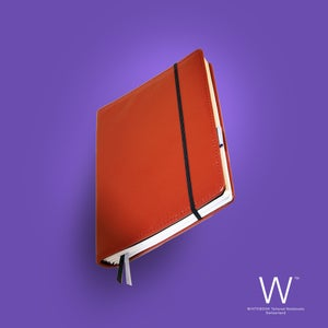 Image of Whitebook Premium, P027w, nappa leather, red, welt-sewn, 240p. (fits iPad / Air / Mini / Samsung)