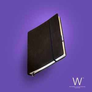 Image of Whitebook Premium P014w, suede leather, brown, welt-sewn, 240p. (fits iPad/Mini)