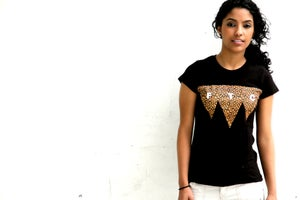 Image of Five Tie City Women Black T-shirts