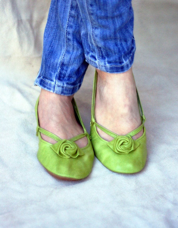 Image of  Ballet Flats Foldable - Green Alert