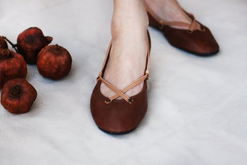 Image of Ballet Flats Foldable - The Pomegranate