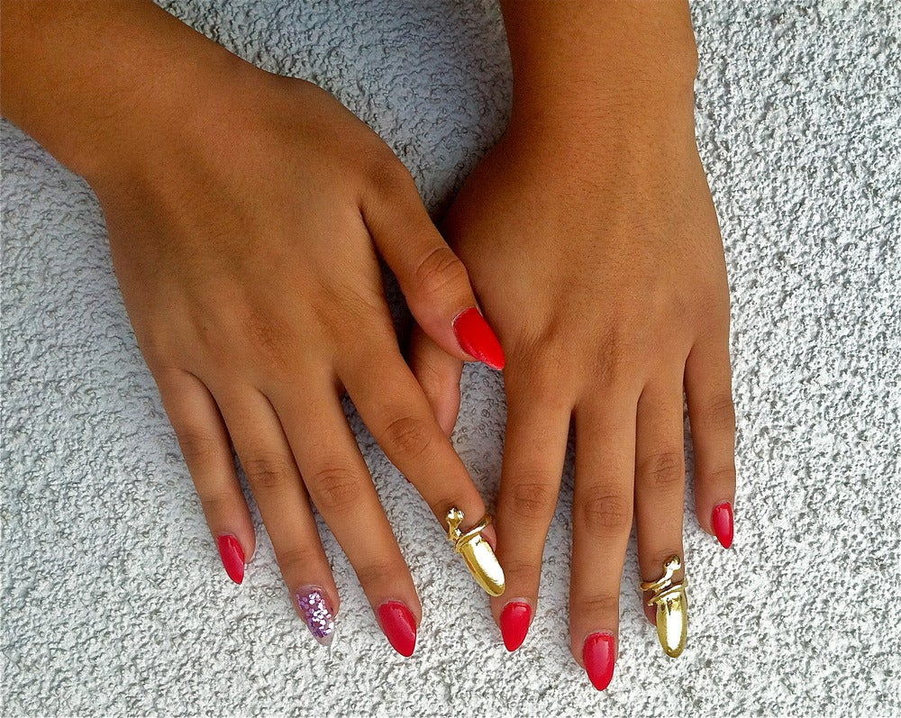 Image of Glossy Gold Nail Rings