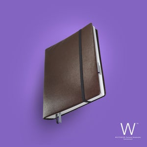 Image of Whitebook Premium P033w, calf nappa, lizard embossed, welt sewn, brown, 240p. (fits iPad/Mini)