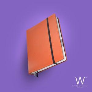 Image of Whitebook Premium, P036w, nappa leather, orange, welt-sewn, 240p. (fits iPad/Air/Mini / Samsung)