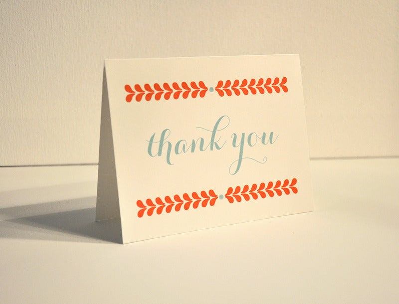 Image of Cheerful Thank you note