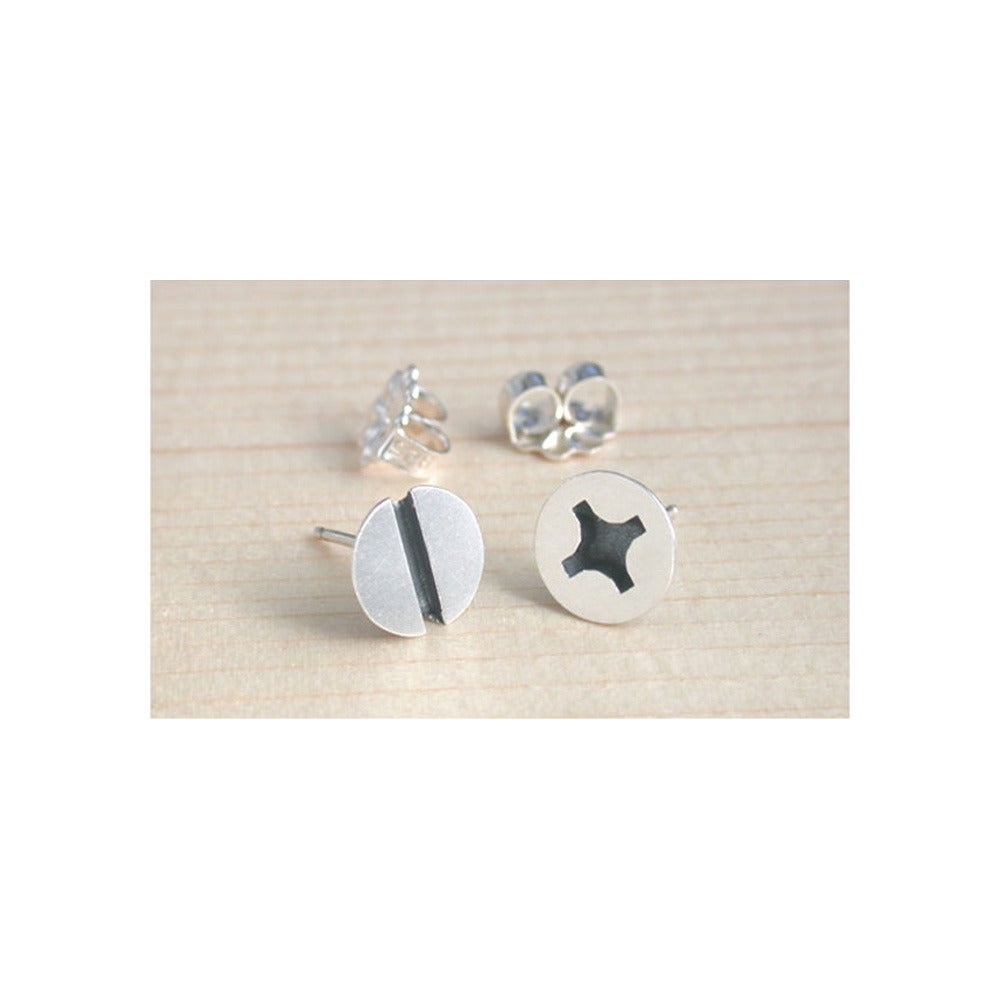 Image of large screw earrings