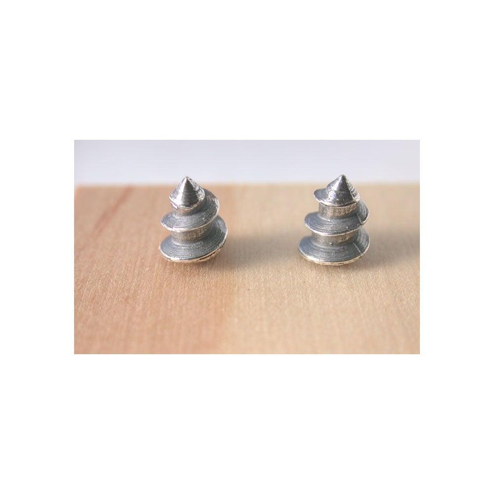 Image of screw tip earrings