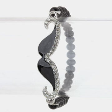 Image of Crystal Mustache Stretch Bracelet