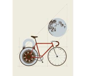 Image of Bike/Moon/Lock