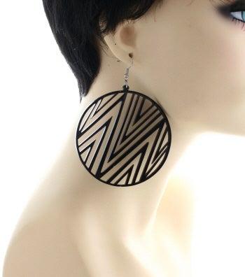 Image of Plexiglass Pattern Earrings