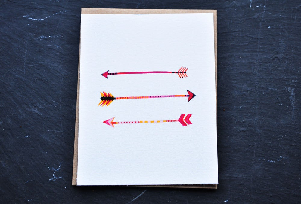 Image of arrows notecard