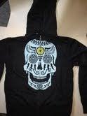 Image of Skull on Charcoal zip-up Hoodie