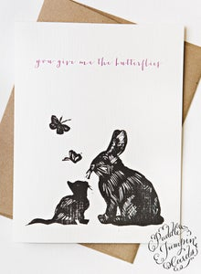 Image of You Give Me Butterflies Card