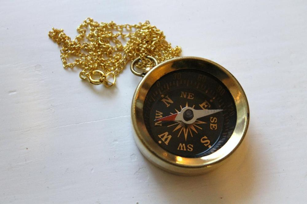 Image of Vintage Compass Necklace