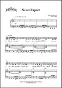 Image of Never Expect (Digital Sheet Music)