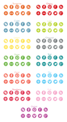 Image of Colorful Round Social Media Icons