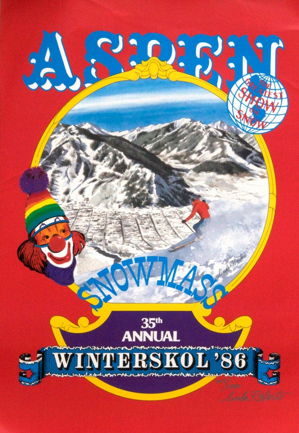 Image of 1986 Aspen Winterskol Vintage Ski Poster