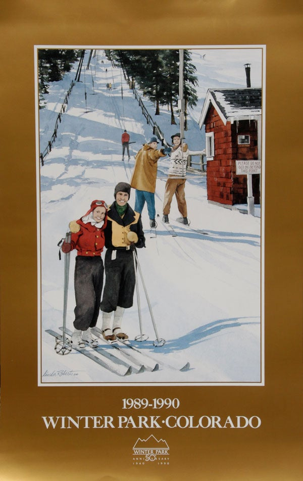 Image of 1989-1990 Winter Park Colorado Vintage Poster