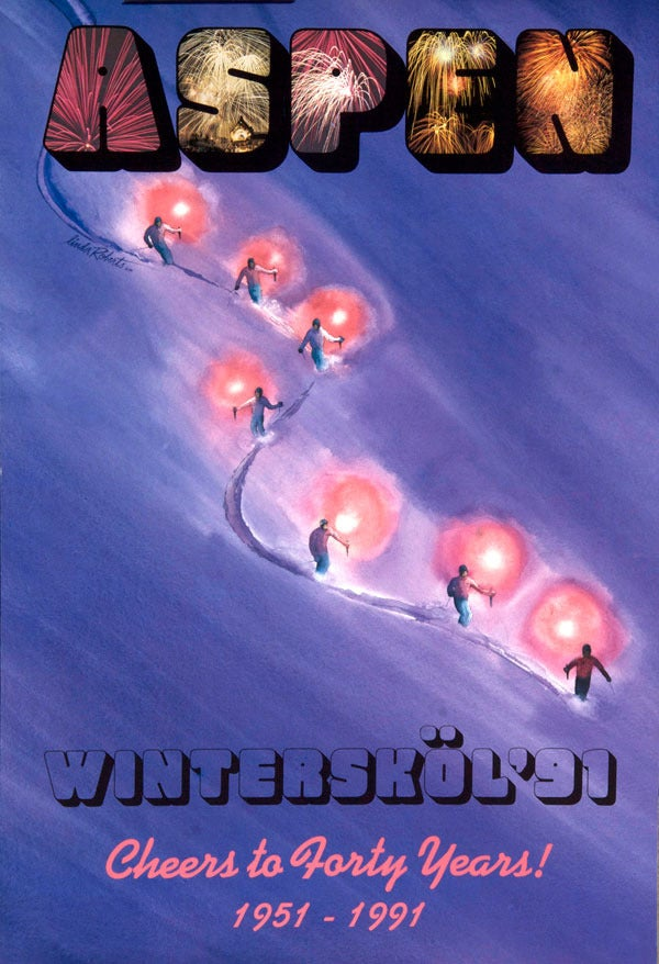 Image of 1991 Aspen Winterskol Vintage Poster