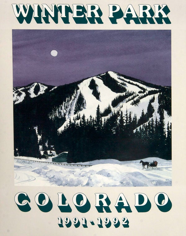 """Image of 1991-1992 Winter Park """"Moon Shadows"""" Poster"""