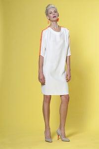 Image of Silk & Tulle Shift Dress