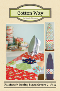 Image of Patchwork Ironing Board Covers 2 Paper Pattern #957