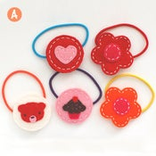 Image of valentine's ponytail elastic bands collection