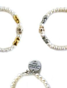 Image of Pearl Skull Bracelet