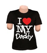 Image of I LOVE MY DADDY T-SHIRT (BLACK)