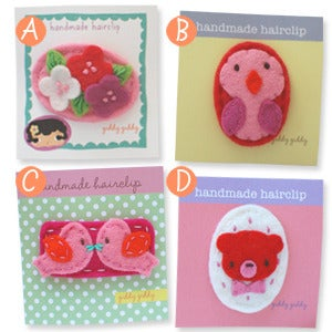 Image of valentine's day hair clips in big girl size #2