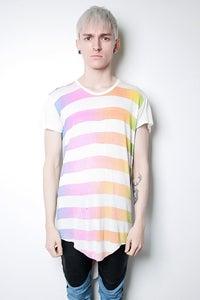 Image of Rainbow Stripe T