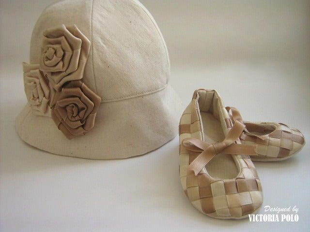 Image of Modelo Nani. Conjunto de sombrero y patucos. Patrones de costura (PDF)