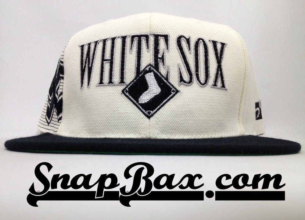 Image of Vintage Deadstock Chicago White Sox Sports Specialties Laser Snapback Hat Cap