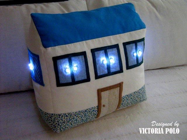 Image of Casa con luces quitamiedos. Patrones de costura (PDF)
