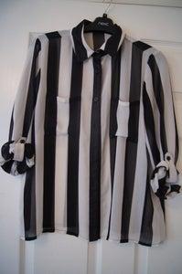 Image of Forever 21 Striped Black & White Shirt