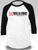Image of Rise & Grind Baseball Tee (Black)