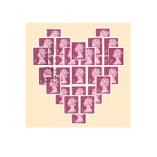 Image of Heart stamp card